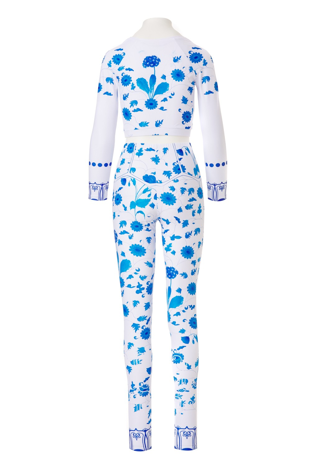 Printed Set - Flowers of the house - MING - blue