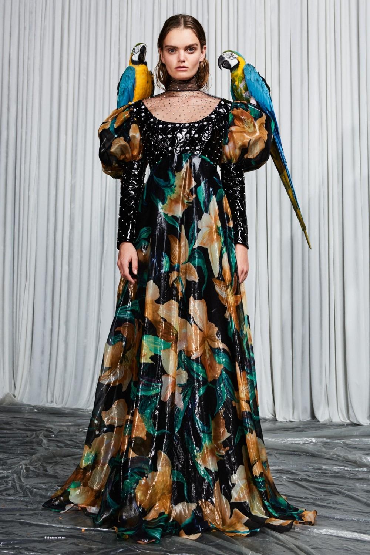 Printed organza dress