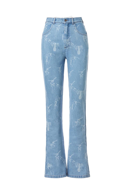 Ilfoveanu print high-rise flared jeans