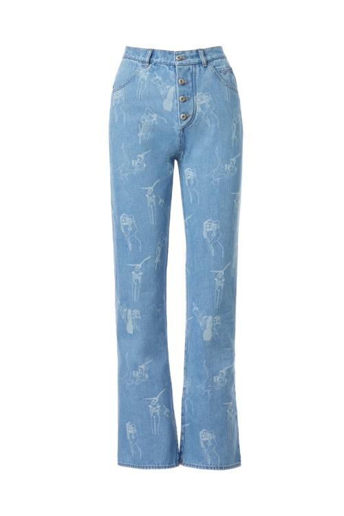 Ilfoveanu print high-rise boyfriend jeans