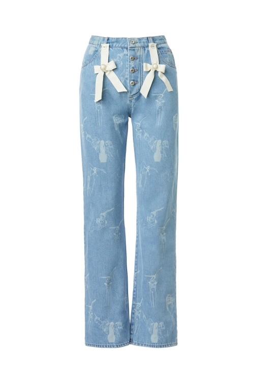 Ilfoveanu print high-rise boyfriend jeans - dark blue